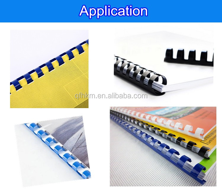 6mm Black White A4 Plastic Book Binding Comb 6mm Binding Spiral