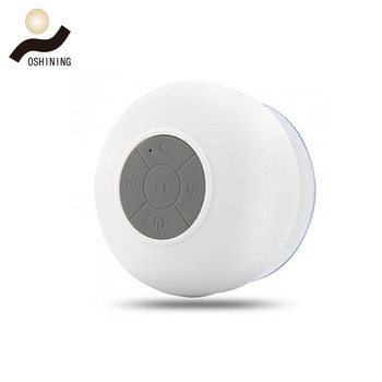 Newest portable mini wireless waterproof shower bt speaker with suction cup OS-S013BL