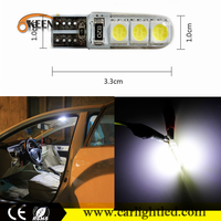 Error Free LED 5050 Canbus T10 Silicone Bulbs Lamp Dome Light 6SMD Car Accessories W5W 194 LED White 12V