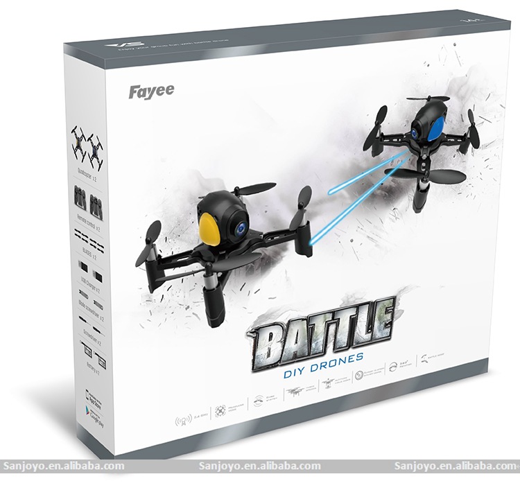 Battle drone DIY KIT 2.4G 4CH 6axis Infrared Fighting function 1Pair Batle drone with Wifi FPV 2MP 120 degree Camera SJY-605