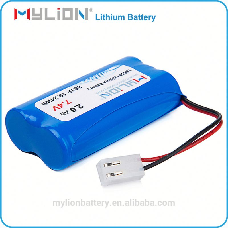High standard Factory export Li-ion18650 Rechargeable Battery Pack 7.4v 2600mAh