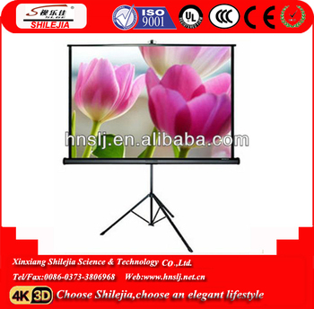Hot Sales!! 4:3 100inch Outdoor High Gain Portable Tripod Projection Screen/Tripod projector screen(New Product)