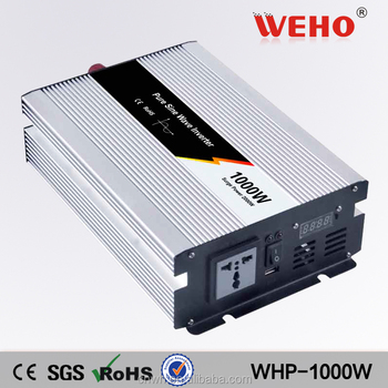 CE RoHS approved 24v 220v 50Hz 1000 watt pure sine wave ac inverter