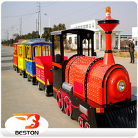 Outdoor Playground Amusement park Tourism Old Steam Electric trackless train for sale