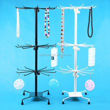 Wholesale Metal Rotating Handbag Chain Bracelet Necklace Display Stand Rack Holder