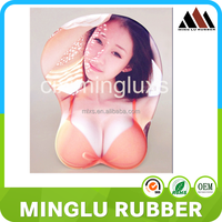 Hot picture silicone 3d sexy pretty sex girl breast mouse pad