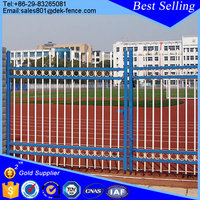 Single antique house main wrought iron square tube gate designs