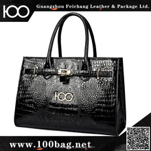 2016 Trending new product wholesale price ladies brand women's bags genuine crocodile leather handbags made in China