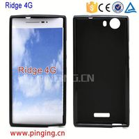 Smooth black Soft Gel TPU Case for Wiko Ridge 4G TPU Cover