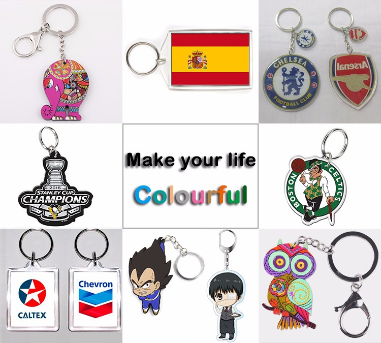 Fashion acrylic Keychains, Mini animal Toys Emoji Keychain China supplier