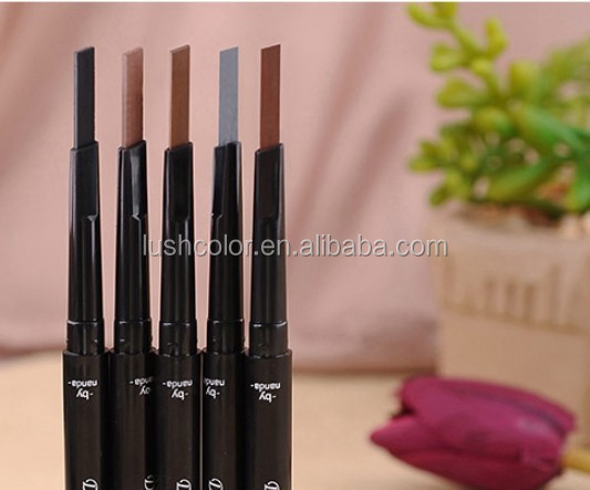 Hot sale permanent Makeup cosmetics free cut eyebrow pencil 5 colors