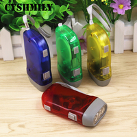 Promotion outdoor 3 led hand pressing flashlight hand crank dynamo torch flashlight