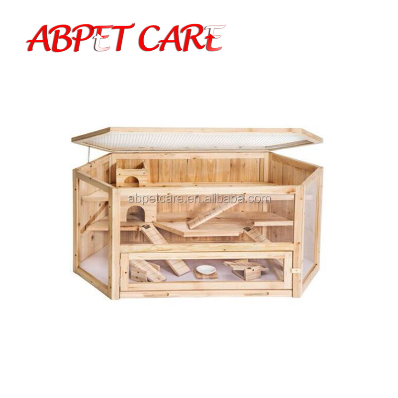 Wooden Large Hamster Rat Pet Pig Rabbit Cage