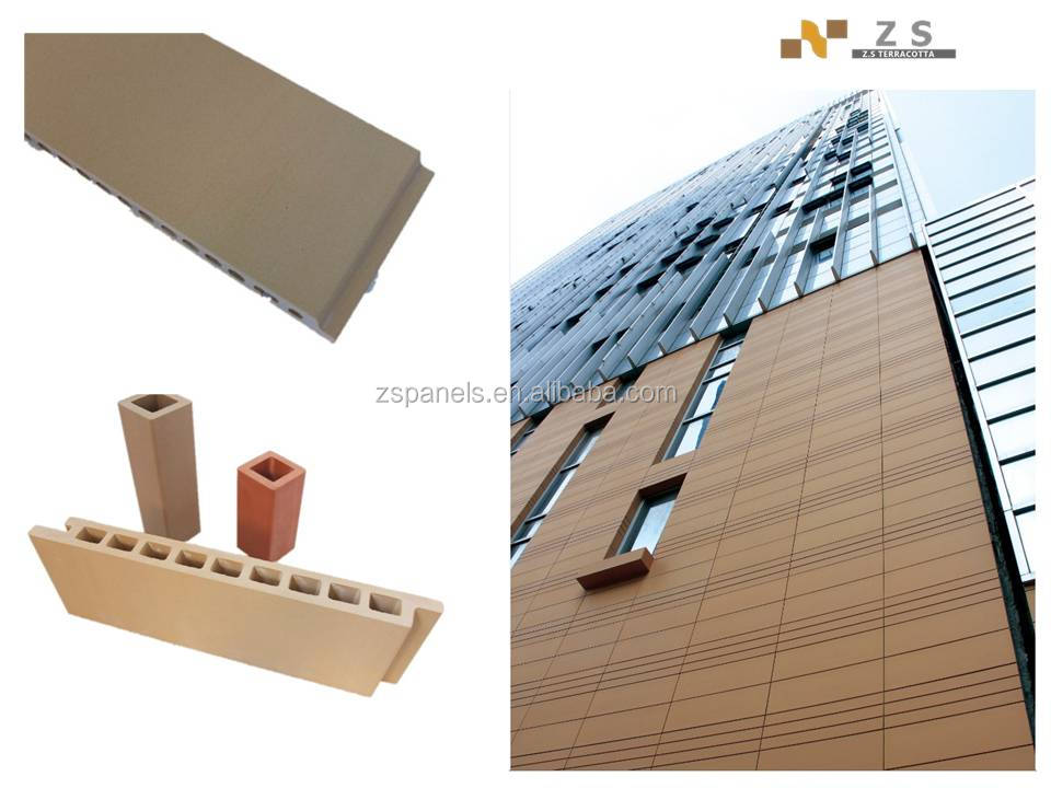 Chinese exterior cladding wall tiles , terracotta wall board tiles, glazed terracotta wall panels