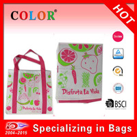 Non woven shopping bag,shopping bag with fruits printing,foldable shopping bag