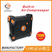 CP-16 15000mAh Portable Mini-Function Car Jump Starter with Air Compressor