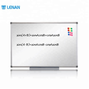 Customize Size Aluminium Frame ABS Corners Office School Enamel Dry Erase White Board Type for Students