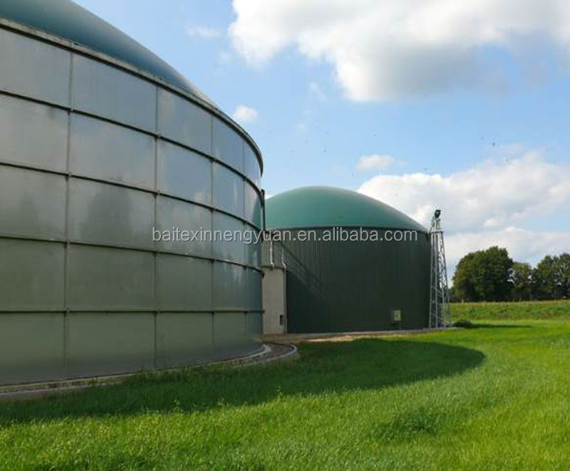 grains, liquid manure, dung water storage bolted tank for biogas plant anaerobic fermentation