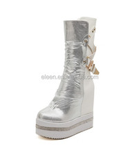 Newest style shoes sexy lady boots white platform shoes