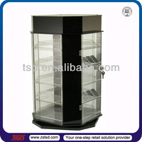 TSD-A622 Custom retail store countertop rotating acrylic lighter display case,lighter display stand,lighter display box