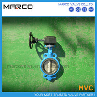 Competitive price lug/wafer/flange end middle line or eccentric gear operated butterfly valves