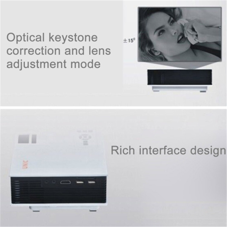 cheap and good quality make 800*480 1080p support UC40 portable projector, entertainmet projector,lcd beamer