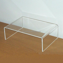 Customized Clear U Shaped Acrylic Riser Acrylic Computer Monitor Desk Riser Stand