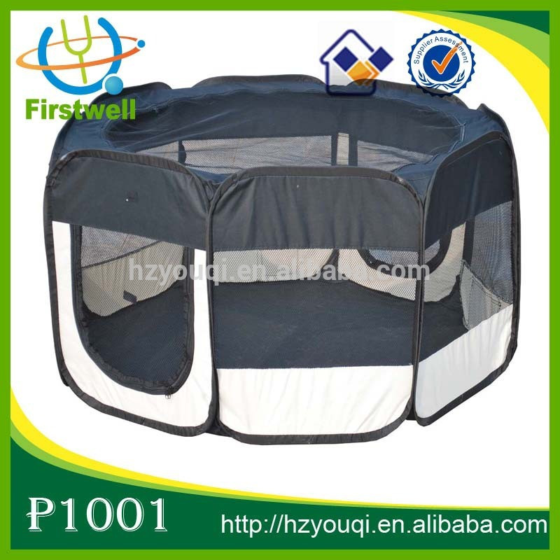 8 Panels 2 Zip Doors Portable Case Playpen Exercise Pens for Dogs