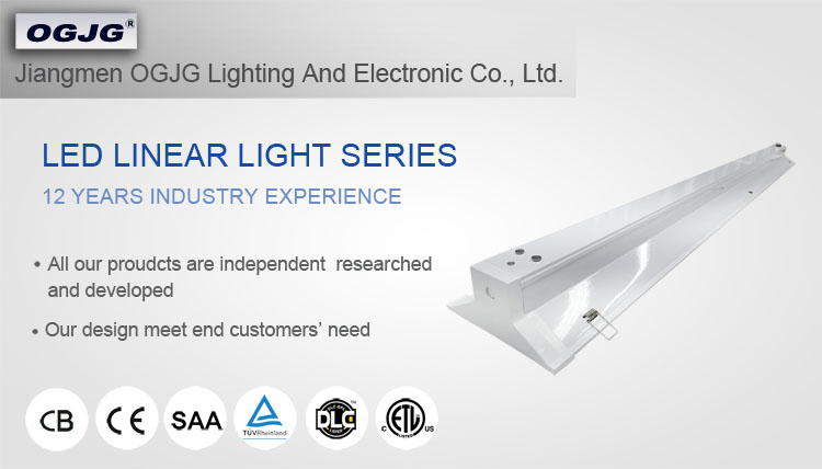 supermarket dimmable ceiling linear fixture integrated t5 led tube lamp