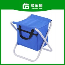 Polyester Cooler Seat Blue Foldable Cooler Chair Bag