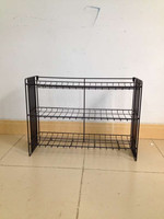 3 layer wire counter display rack for shoes