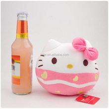 Wholesale 20 cm pink color hello kitty cat animal soft plush toy