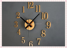 Modern decorate gifts DIY wooden digital wall clock