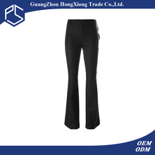 Guangzhou Factory High Quality Customize Black Cutting Of Ladies Trousers