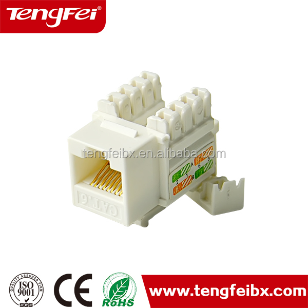 90 Degree Cat 6 Keystone Jack For Wall Plate