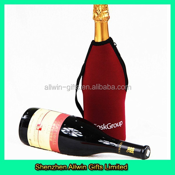 Custom design Neoprene wine bottle holder