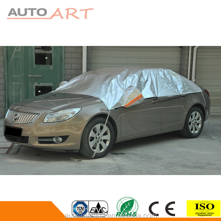 Various Sizes Waterproof Anti UV Snow Protector Half Car Auto Cover