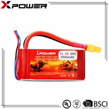 Full capacity rechargeable lithium ion battery 3S 11.1v 1500mAh for RC hobby hobbies