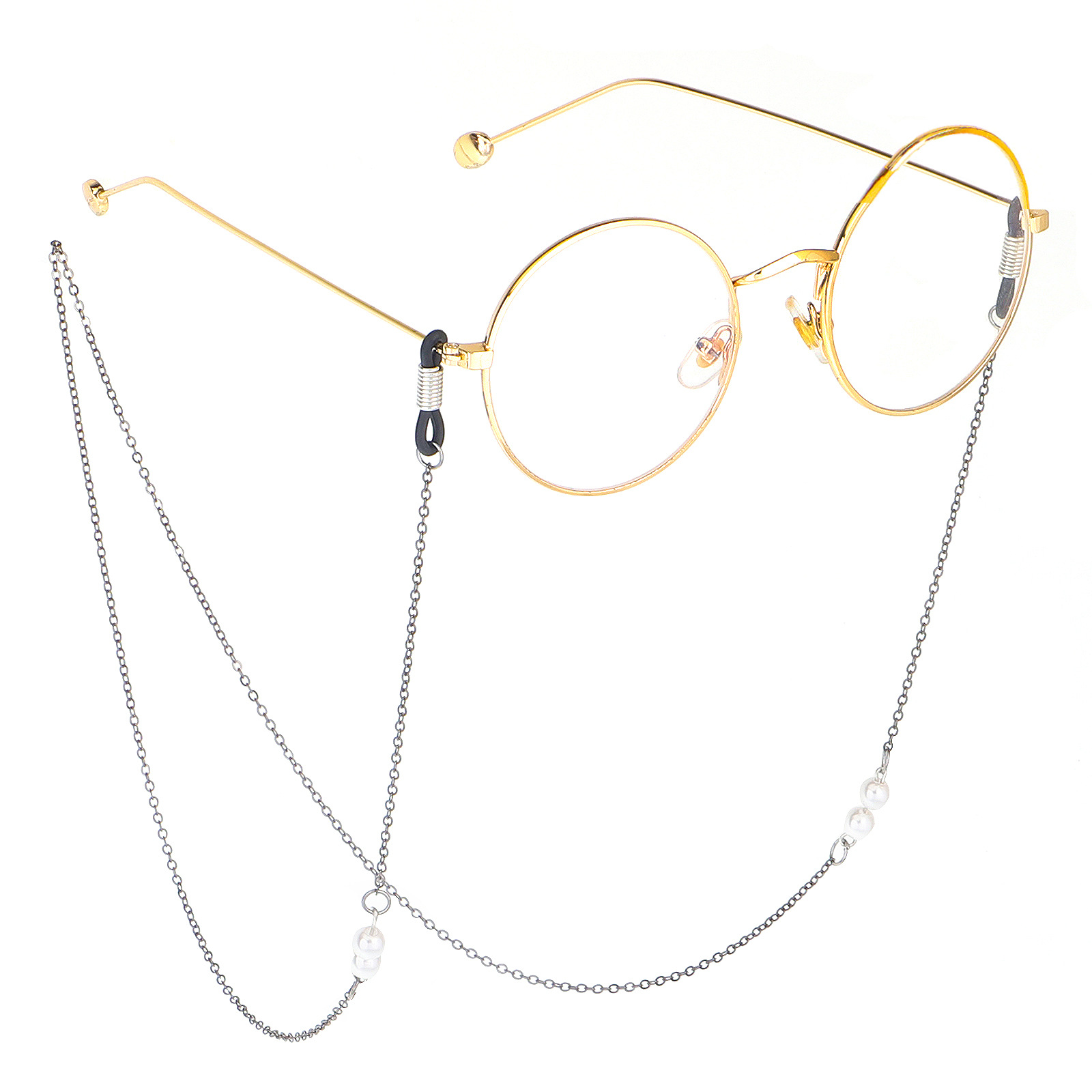 CPSIA Pass 2019 fashion Strap Metal White Pearl eyeglass chain for women