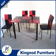 Hot sell glass dining room table,rectangular dining table,korean dining set