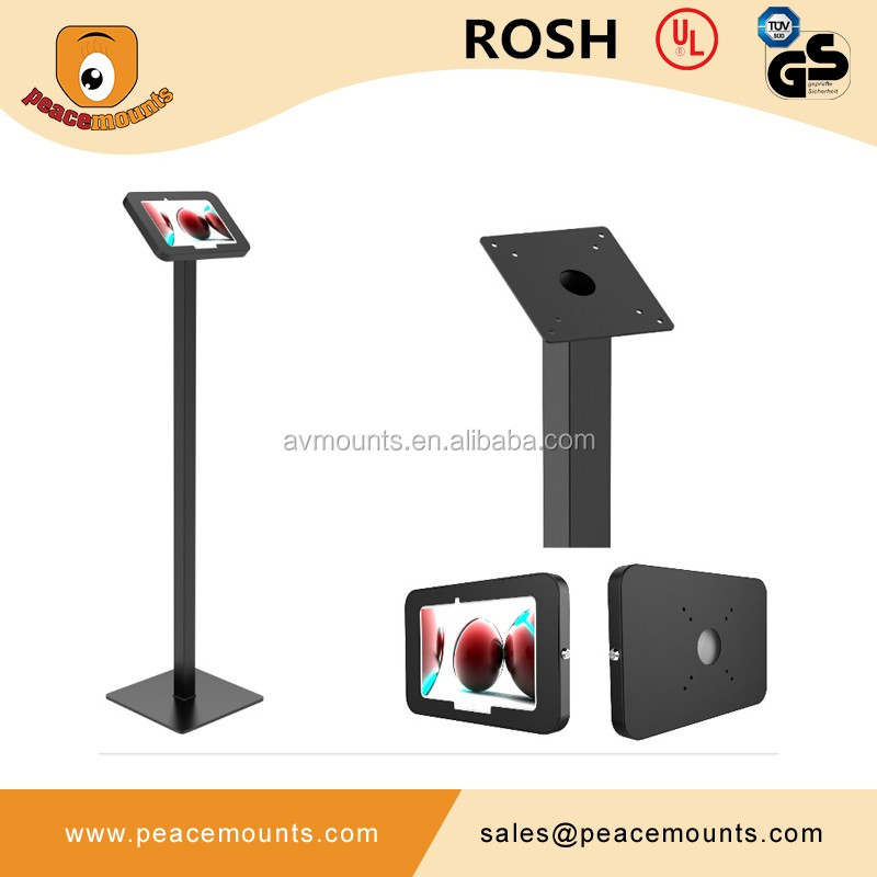 customized tilt rotated floor tablet stand