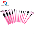 12PC Makeup Brushes Private Label Makeup Brush Set Two Colored Bristle Makeup Brush