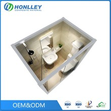 Honlley bathroom fiberglass prefabricated residential building houses, philippines houses prefabricated
