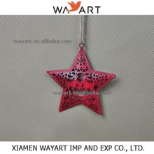 wholesale Manufacture red christmas decorative metal stars For Home Decorations