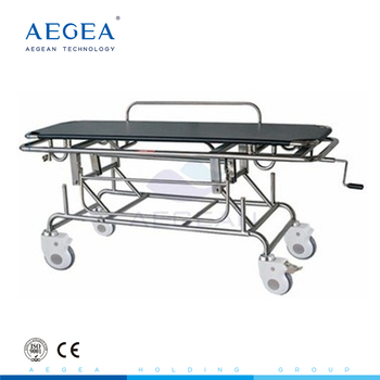 AG-HS014 Advanced adjustable stainless steel medical stretcher in hospital