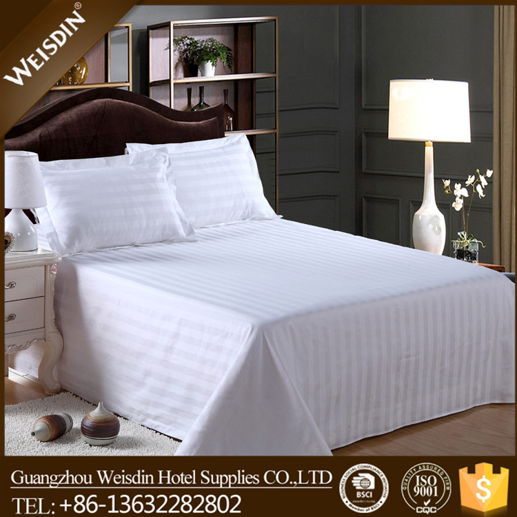 Hotel 250TC 50% Polyester 50% Cotton Percale Commercial Bed Sheet