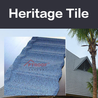 1320*420mm Practical Africa colorful stone coated metal roof tile