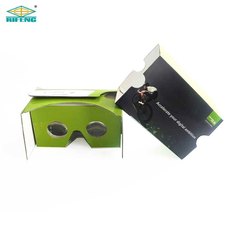 Headset 3D Google Cardboard V2 Virtual Reality Custom Design Cardboard Glasses