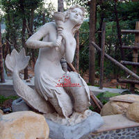 Beautiful woman sculpture for park