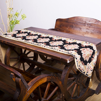 Wholesale table runner black and white for coffee shop
